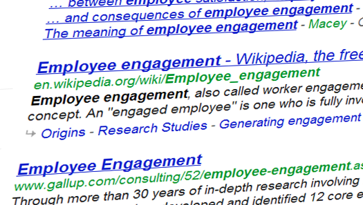 employee engagement synopsis The concept of employee engagement is a popular one i have seen many claims that companies with higher employee engagement have better outcomes (eg, higher customer loyalty, increased.
