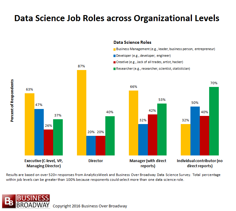 Figure 3. Data Science Roles across Organizational Levels