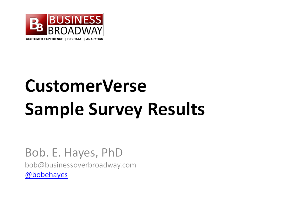 CustomerVerse - Sample Report